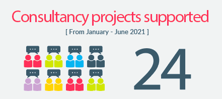 Infographic: 24 Consultancy projects have been completed this year so far